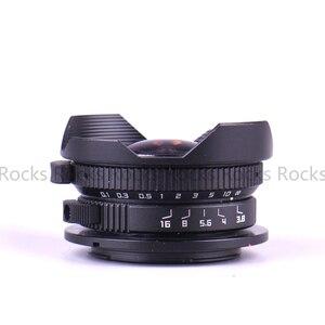 Image 2 - Aparat Pixco 8mm F3.8 kombinezon rybie oko do aparatu Micro cztery trzecie Micro 4/3 + torba na prezent + paski do aparatu