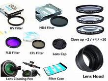 Filtre UV CPL FLD ND4 + 2 + 4 + 10 + capuchon + stylo de nettoyage, pour appareil photo Panasonic Lumix FZ80 FZ82 FZ83 FZ85