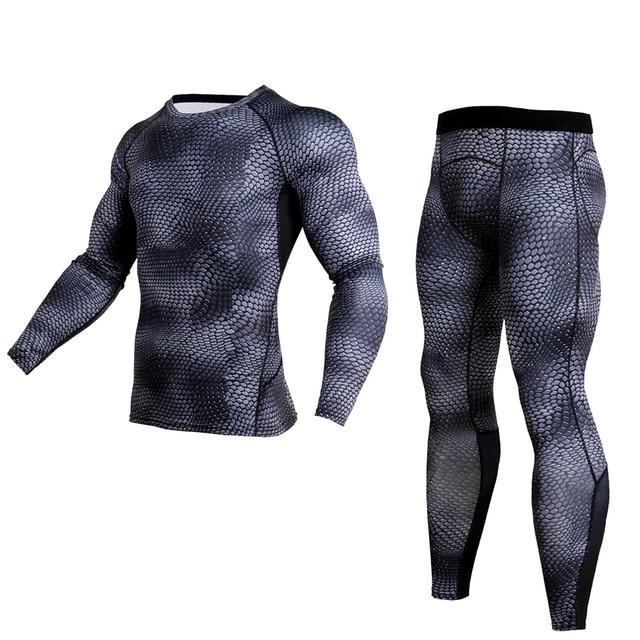 2018 nueva Running camiseta Compression hombres ropa deportiva hombres Gym  Bodybuilding de la ropa Leggings deporte 7b66dba25180b