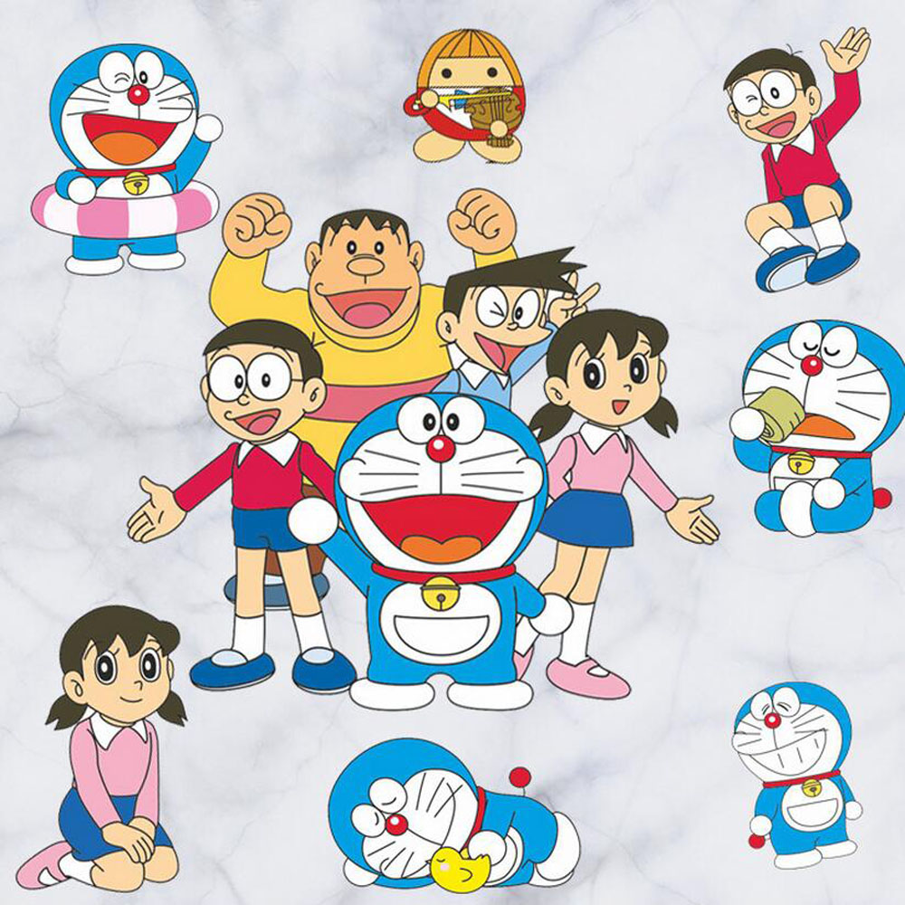 online get cheap wall stickers doraemon for kids rooms aliexpress 3d anime doraemon wall stickers for kids rooms adhesive baby room cartoon wall decals china