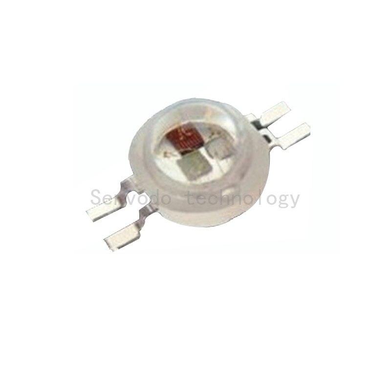 100X hot prodej 4pin vysoce výkonný 9W rgb led světelný zdroj nejlepší kvality 9w rgb led led korálky s 4pin doprava zdarma