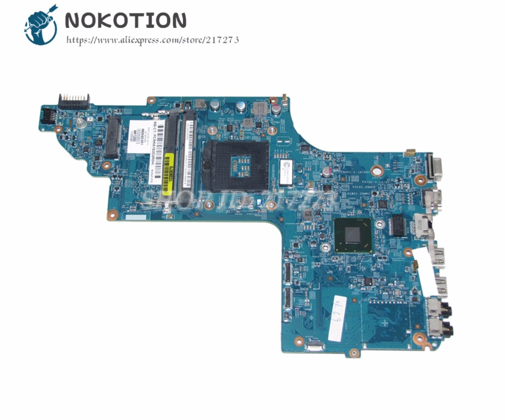NOKOTION For Hp Pavilion DV7 DV7-7000 Laptop Motherboard 682043-001 48.4ST04.011 UMA MAIN BOARD HM77 DDR3 цена