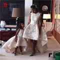 Vestido De Festa Do Laço Appliqued Sexy Alta Baixa Mãe E filha de Noite Formal Vestidos de Baile Longo Elegante Robe De Soirre vestido