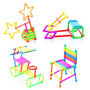 Image 3 - 500 יחידות התאסף אבני בניין DIY חכם מקל פלסטיק בלוקים דמיון יצירתיות למידה חינוכית צעצועי ילדי מתנה