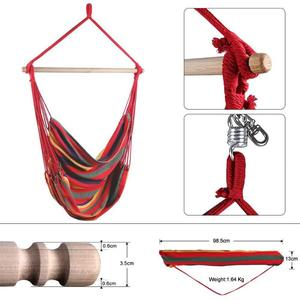 Image 3 - Hanging Chair Hammock Portable Travel Camping Home Bedroom Swing Bed Lazy Chair Collapsible Garden No Sticks