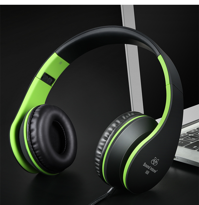 Sound Intone I68 Foldable Headphones with Mic Volume Control Music Headsets Headphone for iPhone Android Smartphone MP3 merrisport wireless bluetooth foldable over ear headphones headsets with mic for for cellphones ipad iphone laptop rose gold
