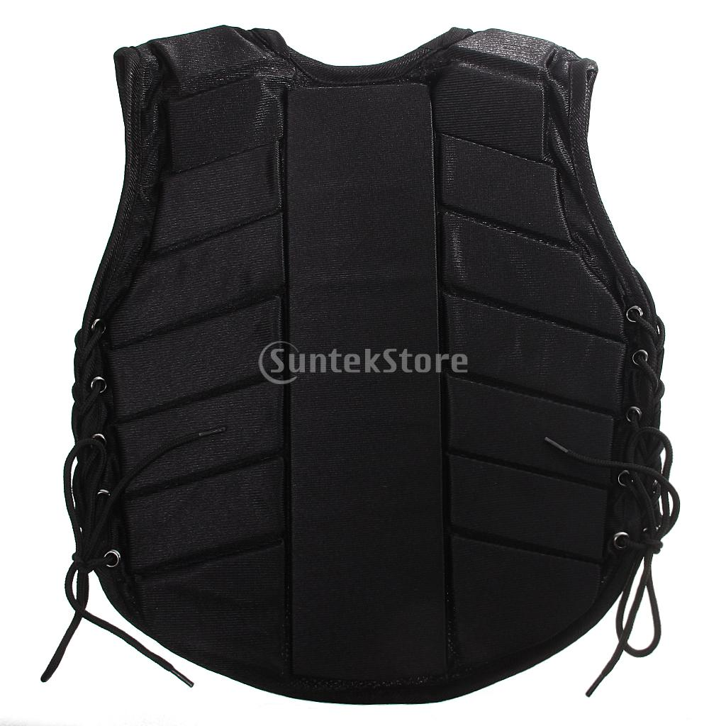 Safety Equestrian Horse Riding Vest Protective Body Protector Black Youth S/M/LXL safety equestrian horse riding vest protective body protector navy adult s breathable vest waistcoat camping hiking accessory