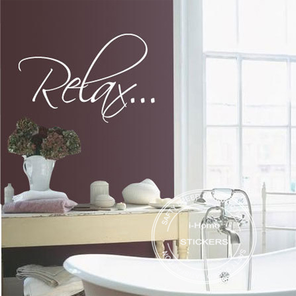 2pcslot bath tub relax bathroom relax vinyl wall quote decal wall art wall