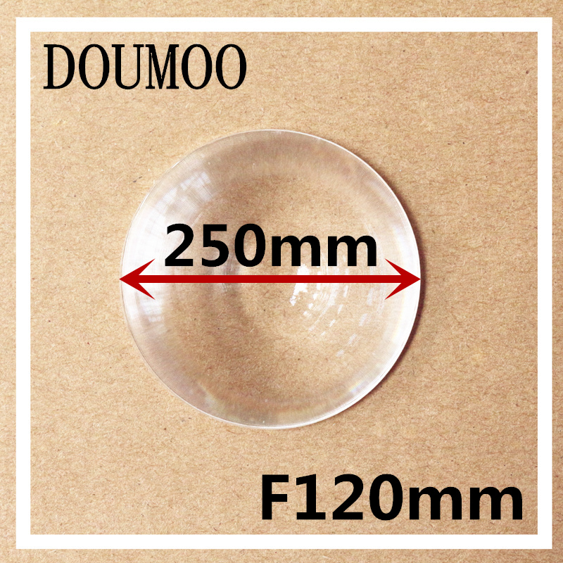 Diameter 250 mm Focal length 120 mm Fresnel Lens DIY TV Projection Solar Cooker thickness 2 MM High light condenser lens free shipping 400 300 f600 fresnel lens for diy projector condenser lens supports custom
