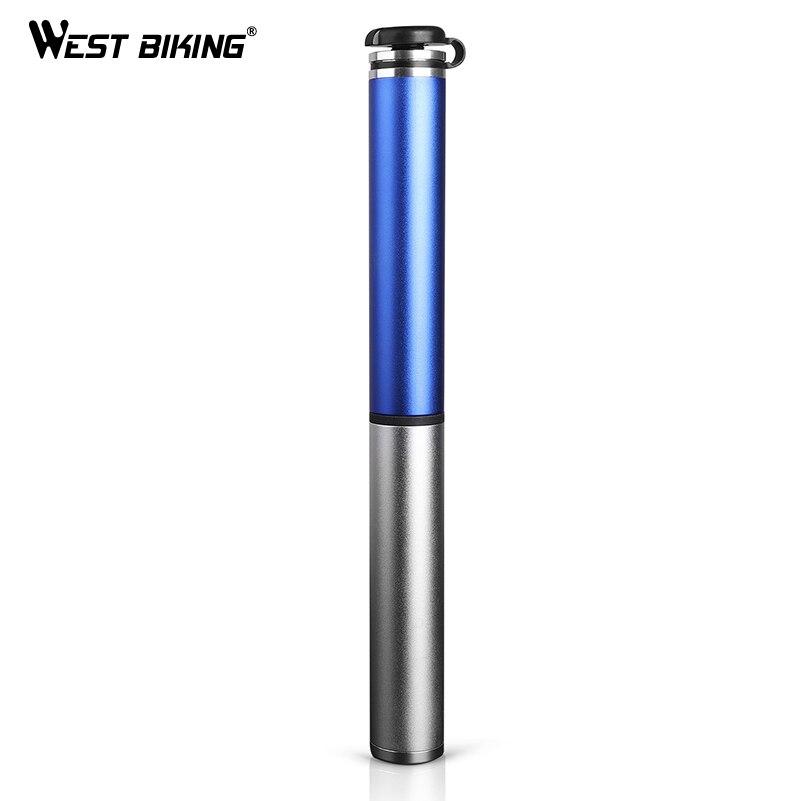 WEST RADFAHREN Fahrradpumpe Hochdruck Hand Mini Pumpen Schlauch Air Inflator Presta Schrader Ventil Luftpumpe Reifen MTB Bike pumpe