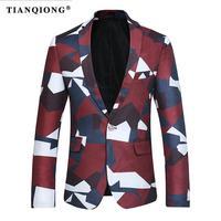 TIAN QIONG Blazer Uomo 2017 New Slim Fit Mens Multicolor modello Casual Giacca 3XL 4XL Partito Sposo Matrimonio Promenade Blazers