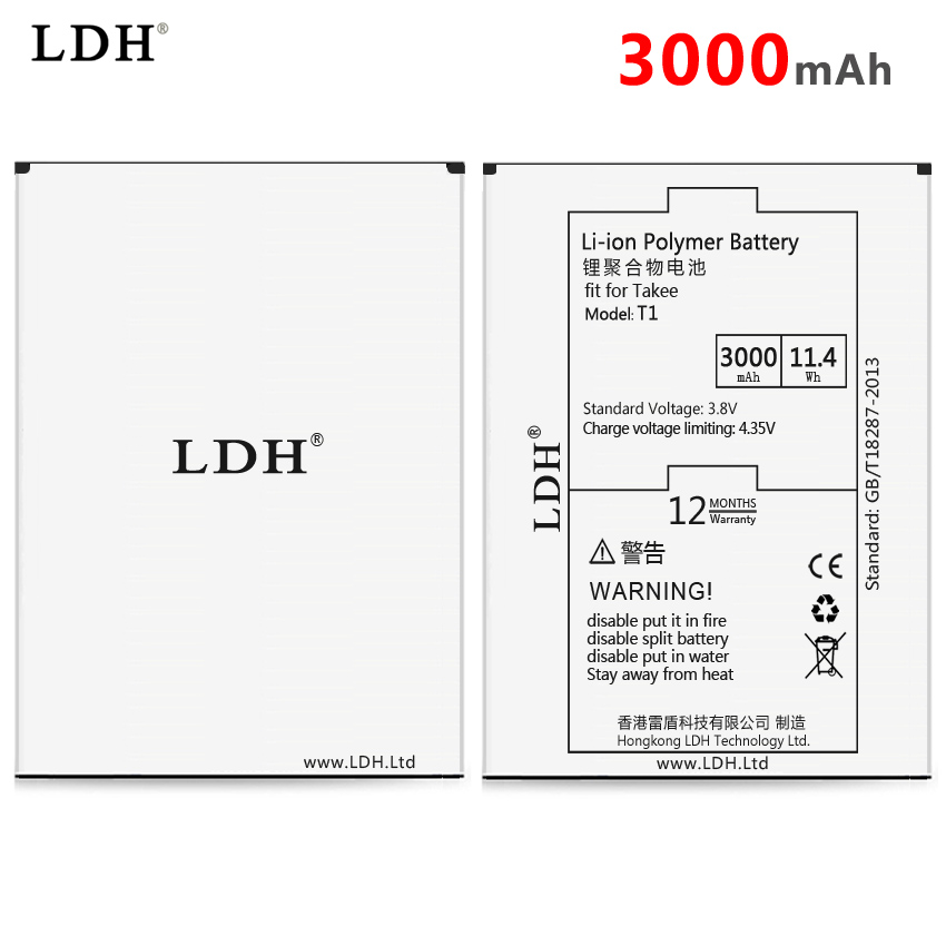 Original 3000mAh Battery For takee T1 Rechargeable Li-ion Internal Battery Bateria High Capacity Batteries