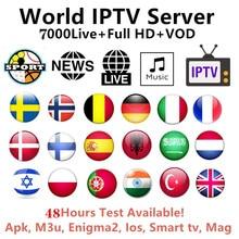 купить Nederlands iptv 7500 HD live subscription android tv box europe france netherlands sweden Germany iptv dutch m3u smart IPTV дешево