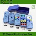 RZ3S 72 buracos caixa de 1 conjunto para bur autoclavable dental alargador, e caixa endo endodôntico guta percha titular alta qualidade