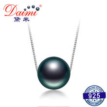 DAIMI On Sale 10-11 미리메터 Black 타히티어 Pearl Necklace 925 Silver 체인 Necklace Single 펄 펜 던 트 Necklace Fine 보석(China)