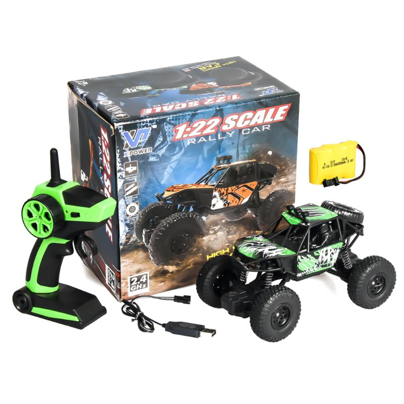 1//20 Scale 2.4G 4WD Rock Crawler Off-road Vehicle RC Car Toy Truck Gifts