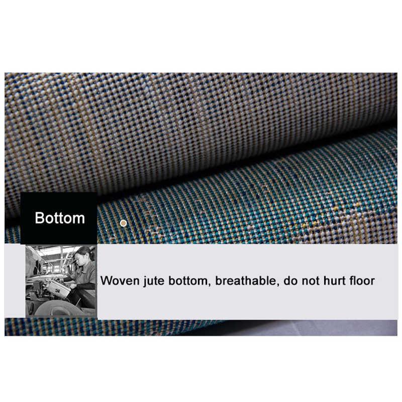 Нордический стиль круглые коврики для дома Коврики для гостиной кабинет компьютер подушка для стула Полипропилен ковер спальня Толстый круглый коврик