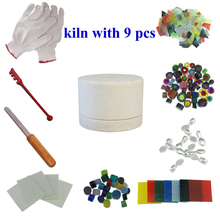 2018 new Microwave Fusing Glass Small Kiln kits 10pcs For diy Glass jewelry ornament(China)