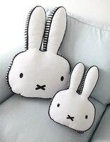 Симпатичные Белый кролик форма подушки домашние Детская комната украшения куклы подарок для детей