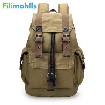 Vintage płótno plecak torba szkolna męskie torby podróżne plecak o dużej pojemności czarny, kawy nowy moda męska plecak S1534