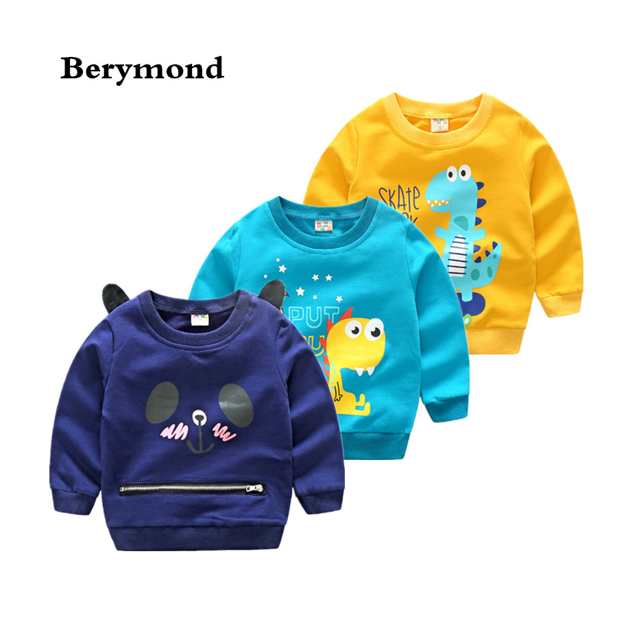 Cartoon Dinosaur Children Long Sleeve T-Shirt New Sweatshirt Clothing 2018 Kids Boys Autumn/Spring Sweatshirt Tops
