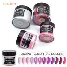 LaMaxPa 20gram Dip Powder Nails Dipping Get Stronger Natural Long lasting Nail No UV Light