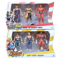 Street Fighter 4 Ryu Ken Sagat Guile EL Fuerte Seth PVC Action Figures Collectible Model Toys 10cm 6pcs/set KT034