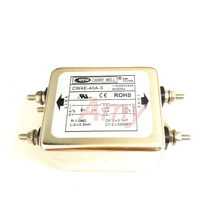 الطاقة emi فلتر تنقية CW4E 40a مرحلة واحدة ac 220 فولت مكافحة التشويش