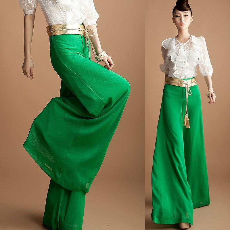 4xl Xxxl Plus Size Spring Summer Fashion Womens Chiffon Wide Leg