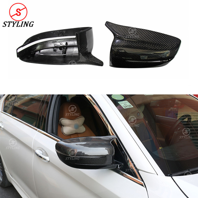 For BMW 5 Series G30 G38 Dry Carbon Fiber Mirror Cover G32 GT & G11 G12 carbon Rear side view caps mirror Cover M Look LHD 2017+