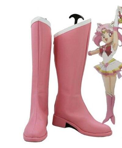 Сейлор Мун Чиби США ботинки для костюмированной вечеринки обувь на Хэллоуин вечерние Косплэй шоу сапоги индивидуальный заказ для взрослых ...