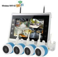 11 Inch LCD Display 4CH IR Night Vision WIFI IP Camera NVR Kit