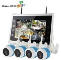 11 Inch LCD Display 4CH IR Night Vision WIFI IP Camera NVR Kit