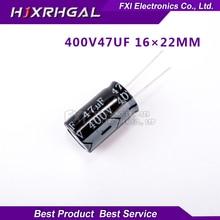 5PCS  400V47UF 16*22mm 47UF 400V 16*22 Electrolytic capacitor New original