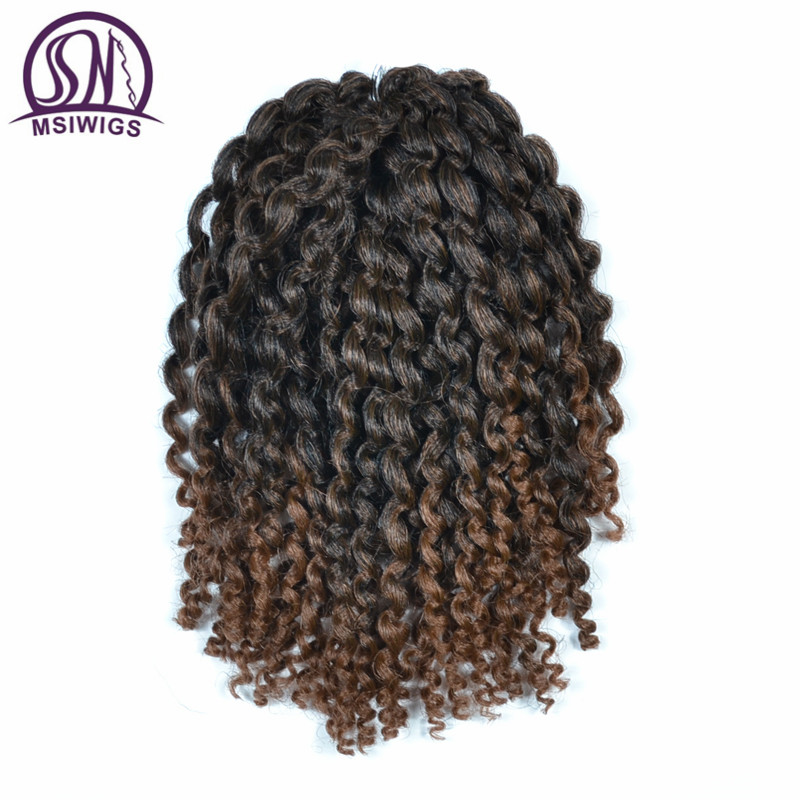 MSIWIG 20 Roots/pack 8 Inch Havana Mambo Twist Crochet Braid Hair 15 Colors Synthetic Curly Dread hair Extensions for Women