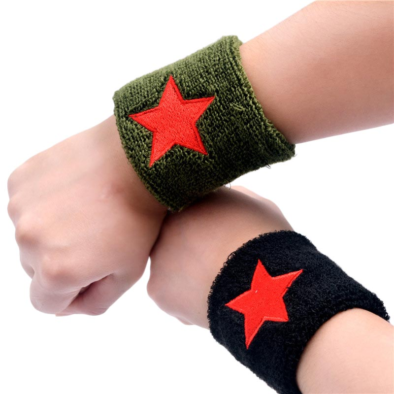 Red Star Sports Wristband Cotton Wrist Support Protector Sweatband Unisex Gym Strap Sport Wrist Wrap SS ...