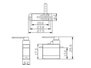 Image 2 - Microservo para avión de control remoto, helicóptero, Dron, barco para Arduino, 1 Uds./3 uds./5 uds./10 Uds./20 piezas Uds. K power P0037 3,7G
