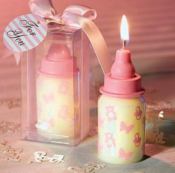 Wholesale Baby Bottle Candle Baby Pink Blue Baby Bottle Candle For Baby  Shower Favors Birthday Gift