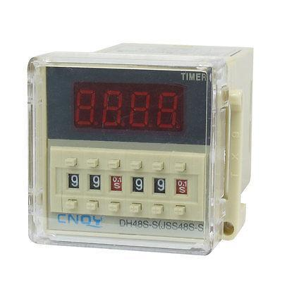 DH48S-S2Z LCD Display Time Timer Delay Relay 8-Pin DPDT 0.1S-99H AC/DC12V