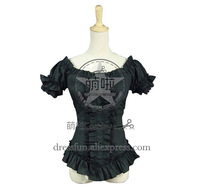 Victorian Lolita Steampunk Blouse Punk Lolita Dress With Beautiful Ruffles Decorated And Girdling Style Catered To Halloween