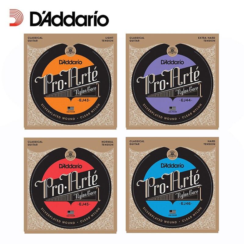 D/'Addario Pro-Arte Clear Nylon Classical Guitar Half Set Extra Hard Tension