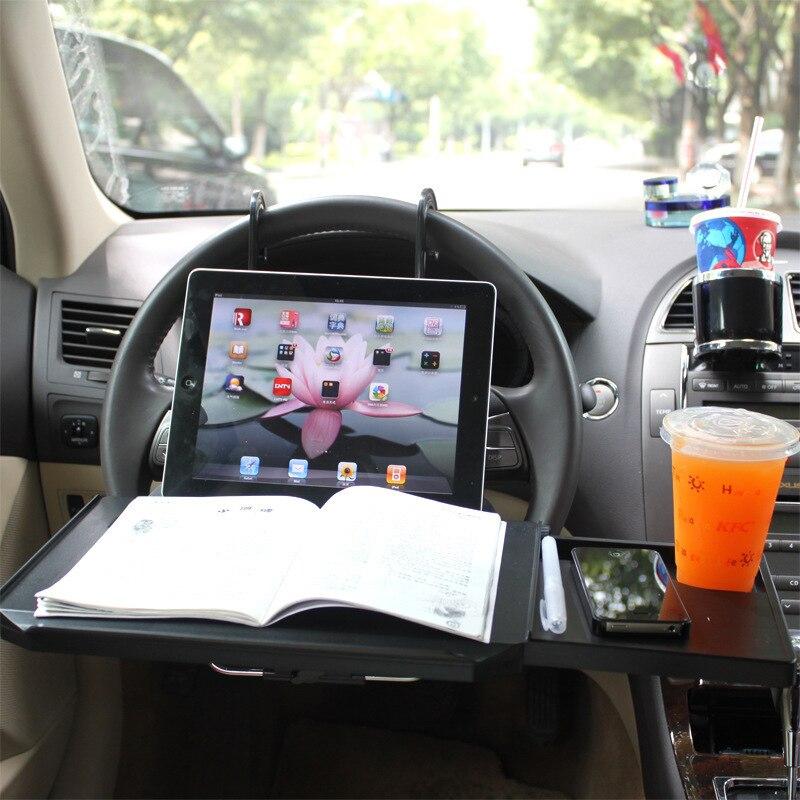 Troisième générationvoiture support de verre Portable bureau volant voiture pour SUV siège arrière plateau Stand travail Table à manger voiture support de verre - 2