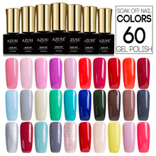 AZURE BEAUTY 60pcs lot Nail Varnish Gel Polish Soak Off UV Gel Nail Paint Manicure Free