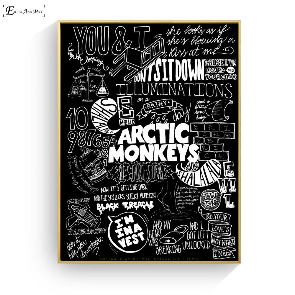 Arctic Monkeys Music Band Quote Canvas Prints Modern Painting Posters Wall  Art Pictures Living Room No Frame