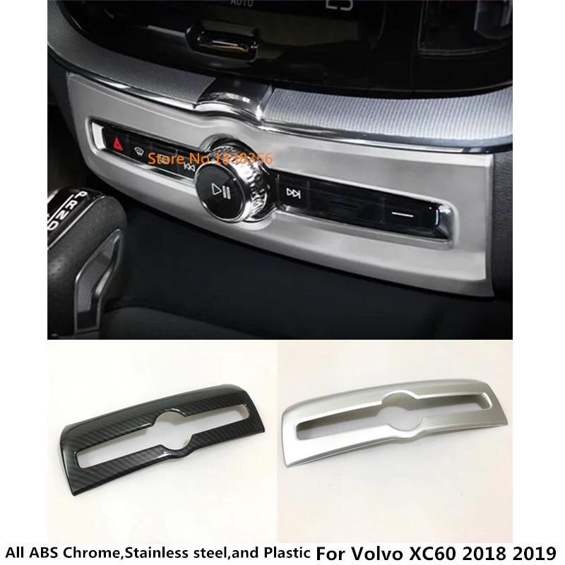 עבור וולוו XC60 2018 2019 סגנון רכב לקשט פנימי לקצץ מיזוג מיזוג אוויר מצב מתג יציאה שקעי ברדס 1pcs