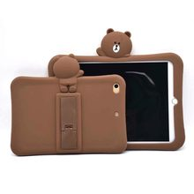 For ipad mini 2 case soft silicone protective case 7.9 inch BROWN cartoon stand cover kids for ipad mini 1 case for ipad mini 3 jeans pants style protective plastic case for ipad mini blue brown
