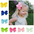 1 piece Handmade Baby Solid Hair Bows With Clips Girls 20 colors Solid Grosgrain Ribbon Hair Bow Kids Boutuique Hair Accessories