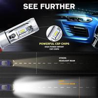 H4 H7 H11 50W 6000LM LED Car Headlight Bulb 3000K/6500K/8000K CSP CREE Chips Led Auto Headlamp Fog Light Bulbs DC12v 24v