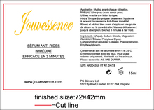 Customized Transparent PVC label sticker, hot foil stamping and printing