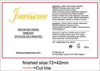 Dostosowane Przezroczysty naklejki etykiety PCV, druk offsetowy i drukowania